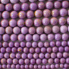 High Quality Grade A Natural Phosphosiderite (purple) Semi-precious Gemstone Round Beads - 4mm, 6mm, 8mm, 10mm sizes