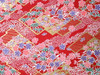 Japanese Handcrafted Yuzen Washi Chiyogami Origami Paper Large sheet - Garden Flower - approx 630mm x 945mm