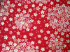 Japanese Handcrafted Yuzen Washi Chiyogami Origami Paper Large sheet - White Sakura Cherry Flowers - approx 630mm x 945mm