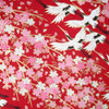 Japanese Handcrafted Yuzen Washi Chiyogami Origami Paper Large sheet - Crane Bird - approx 630mm x 945mm