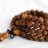 Natural Golden Yellow Sandalwood Round Wood Beads - 108 beads - Mala Prayer Beads - 6mm, 8mm