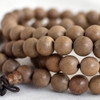 Natural Phoebe Silk Wood Round Wood Beads - 108 beads - Mala Prayer Beads - 6mm, 8mm