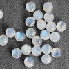 Grade AA Natural Rainbow Moonstone Semi-precious Gemstone Round Cabochon - 3mm, 4mm, 5mm, 6mm, 7mm, 8mm, 10mm sizes