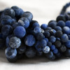 High Quality Grade A Natural Sodalite (blue) Frosted / Matte Semi-Precious Gemstone Round Beads - 4mm, 6mm, 8mm, 10mm sizes