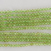 "High Quality Grade A Natural Peridot Faceted Semi-Precious Gemstone Round Beads - 2mm - 15.5"" long"