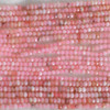 High Quality Grade A Natural Pink Peruvian Opal Semi-Precious Gemstone Faceted Rondelle / Spacer Beads - 3mm, 4mm, 6mm, 8mm sizes