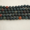 High Quality Grade A Natural Bloodstone Frosted / Matte Semi-Precious Gemstone Round Beads - 4mm, 6mm, 8mm, 10mm sizes