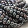 "15"" Strand Natural Freshwater Pearl Beads Round / Potato Rainbow  Grey 5 - 9mm Grade B"