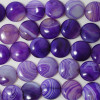 4 x High Quality Grade A Purple Banded Agate Beads Disc Coin 16mm