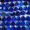 4 x High Quality Grade A Blue Banded Agate Beads Disc Coin 14mm