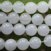 High Quality Grade A Natural White Snow Jade Semi-Precious Gemstone Round Beads - 4mm, 6mm, 8mm, 10mm