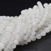 High Quality Grade A Natural White Snow Jade Semi-Precious Gemstone Round Beads - 4mm, 6mm, 8mm, 10mm