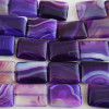 4 x High Quality Grade A Purple Banded Agate Beads Rectangle 18 x 25mm