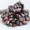 High Quality Grade A Natural Rhodonite Semi-precious Gemstone Round Beads - 4mm, 6mm, 8mm, 10mm