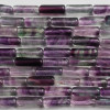 "High Quality Natural Rainbow Fluorite Cylinder  Beads 15.5""  strand"
