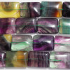 10 Natural Rainbow Fluorite Rectangle Beads 16mm x 20mm