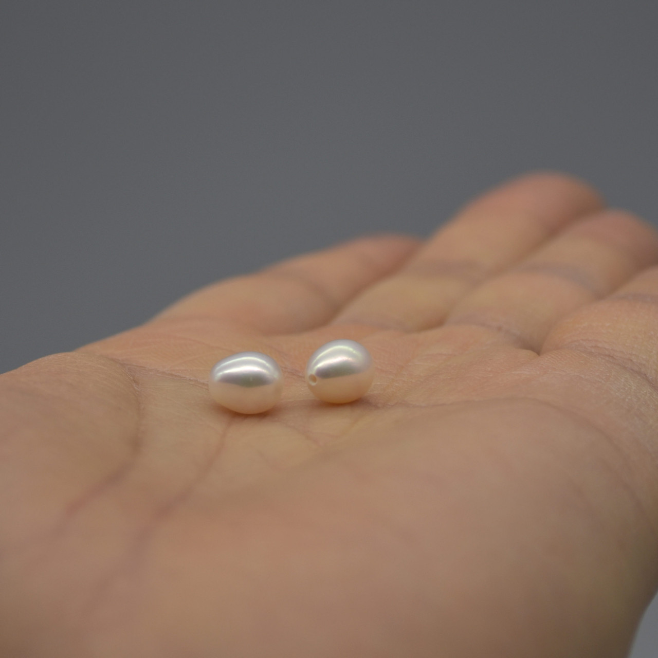"""16/"""" Natural Freshwater Pearl Beads Rondelle Button  White 6-9mm Grade AA"""
