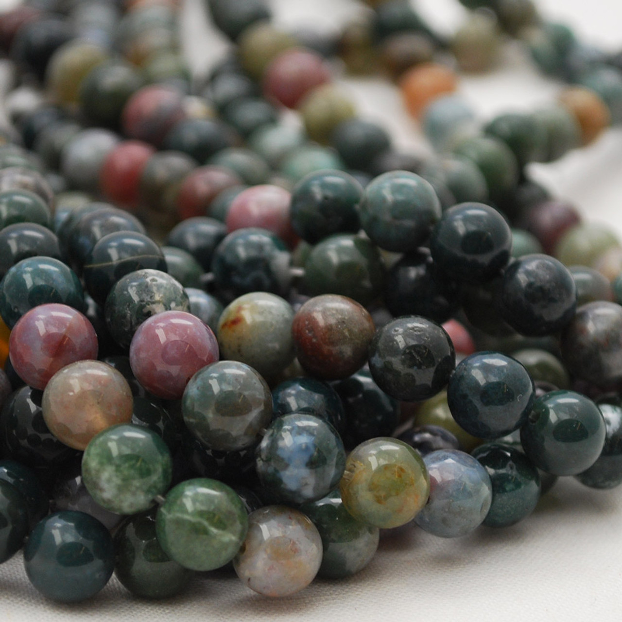 6mm High Quality Grade A Natural Indian Agate Semi-precious Gemstone Round Beads 4mm 15.5 strand 10mm sizes 8mm