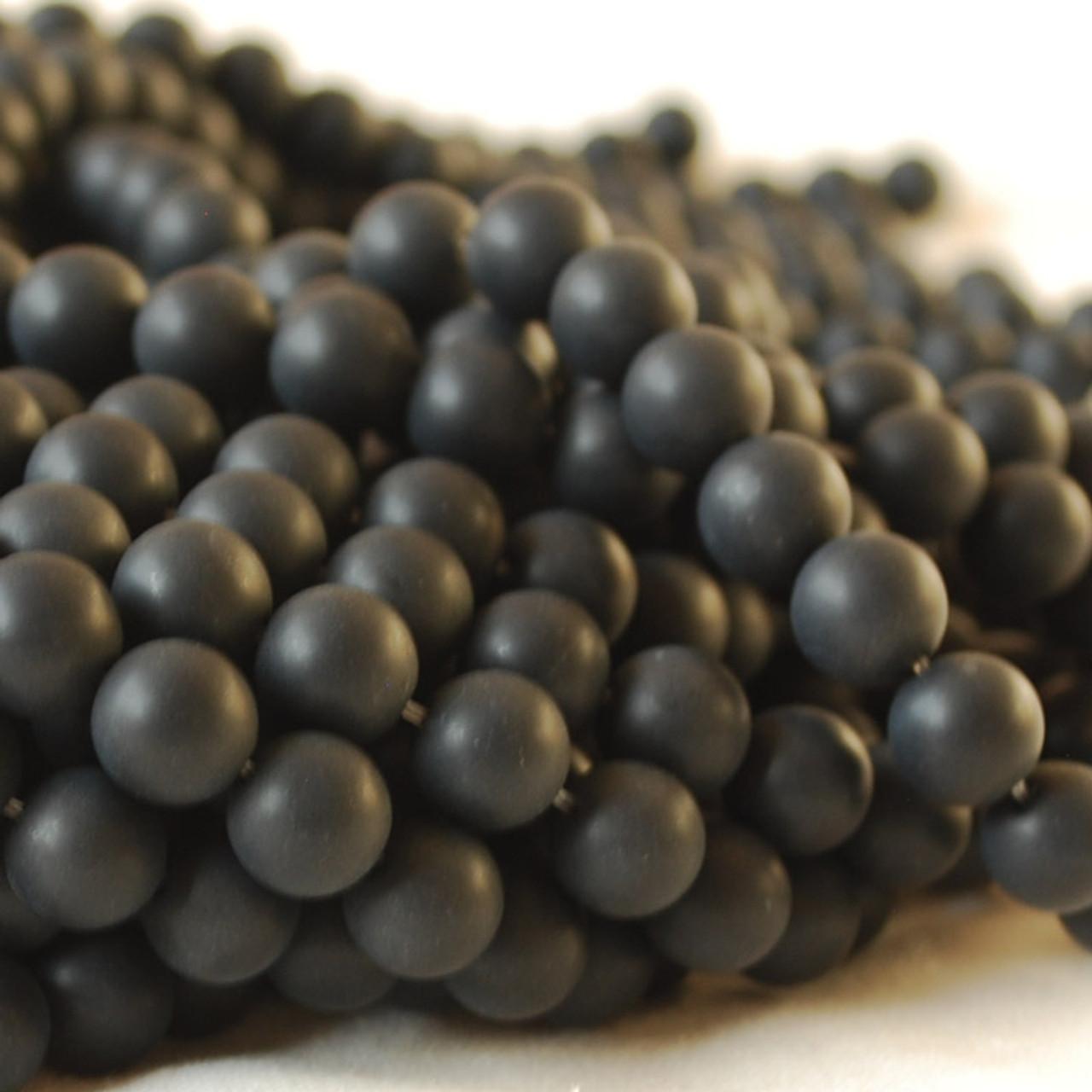 "10mm 16/"" Semi Precious Gemstone Black Agate Onyx Round Beads  4mm 6mm 8mm"