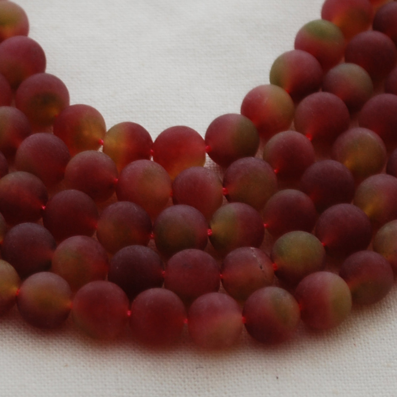 "4mm 6mm 8mm 10mm 16/"" strand Matte Gemstone Round Beads dyed Watermelon Jade"