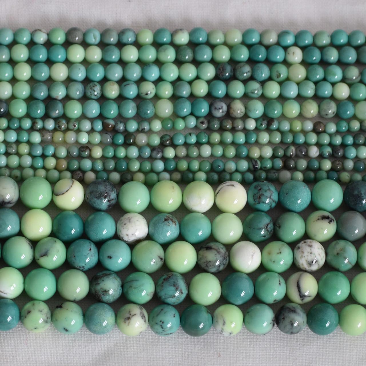 Grade A Natural Grey Opal Semi-precious Gemstone Round Beads 6mm 8mm 10mm