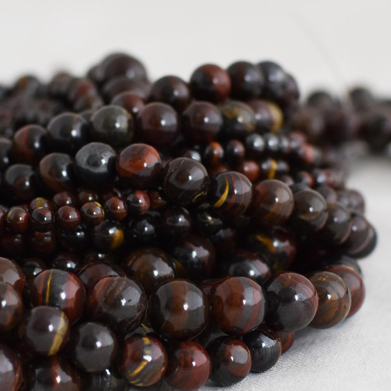 Grade A Natural Blue Tiger Eye Gemstone Round Beads 4mm 6mm 8mm 10mm