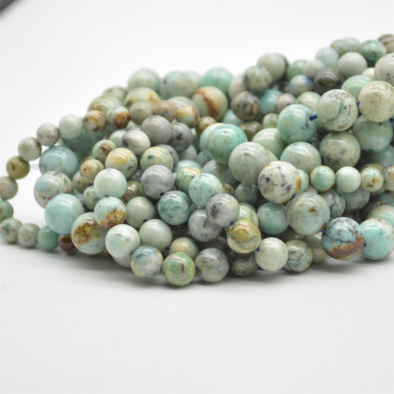6mm Approx 15.5 strand High Quality Grade A Natural Chrysocolla in Quartz Semi-precious Gemstone Round Beads 10mm sizes 8mm