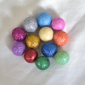 Glitter Felt Balls