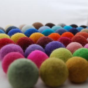 2.5cm Felt Balls