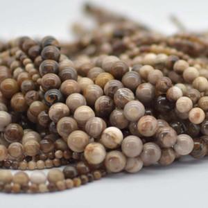 Wood Opalite Beads