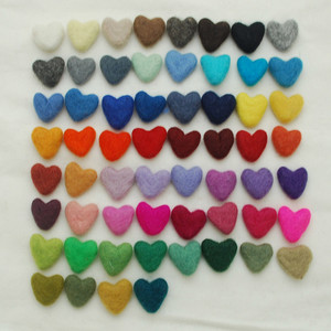3cm Felt Hearts