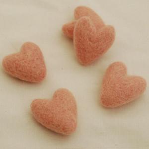 3.5cm Felt Hearts