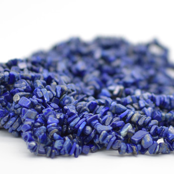 "Natural Lapis Lazuli Beads Chips - 36"" Strand"