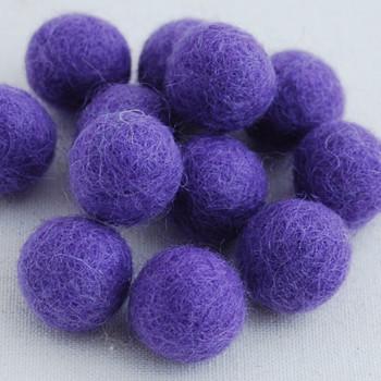 100% Wool Felt Balls - 1.5cm - Lavender - 25 Count / 100 Count