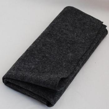 100% Wool Felt Fabric - Approx 1mm Thick - Natural Dark Grey