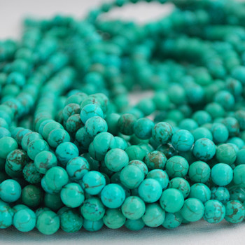 Green Turquoise (dyed) Semi-precious Gemstone Round Beads 4mm, 6mm, 8mm, 10mm