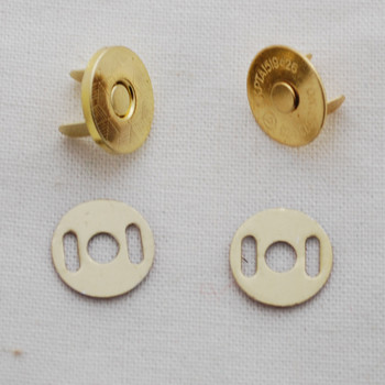50 Sets Extra Thin Magnetic Snap Button Bag Clasp - 14mm - Gold
