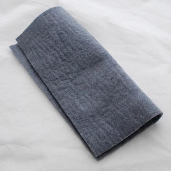 "Handmade 100% Wool Felt Sheet - Approx 5mm Thick - 12"" Square - Battleship Grey"
