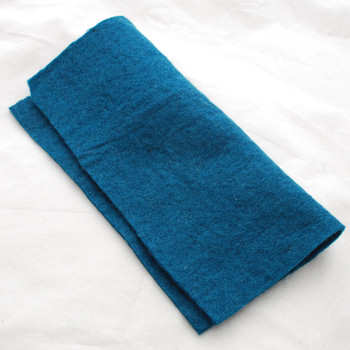"Handmade 100% Wool Felt Sheet - Approx 5mm Thick - 12"" Square - Teal Green"