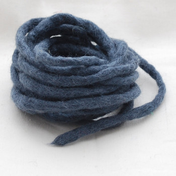 100% Wool Felt Cord - Handmade - 3 Metres - Charcoal Grey