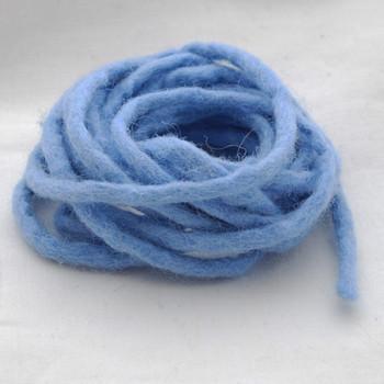 100% Wool Felt Cord - Handmade - 3 Metres - French Blue