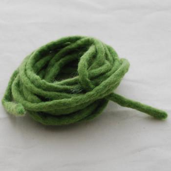 100% Wool Felt Cord - Handmade - 3 Metres - Light Asparagus Green