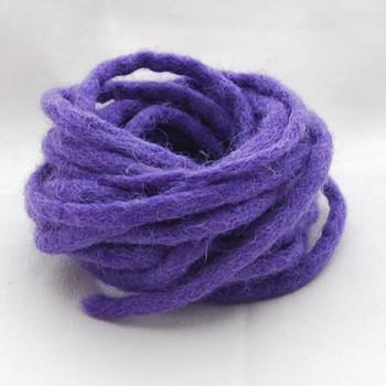 100% Wool Felt Cord - Handmade - 3 Metres - Purple