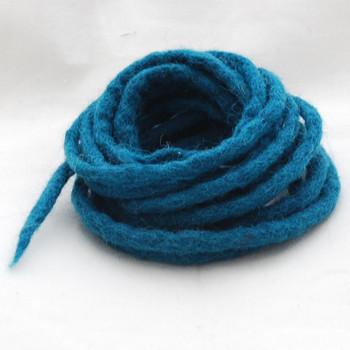 100% Wool Felt Cord - Handmade - 3 Metres - Teal Green