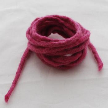 100% Wool Felt Cord - Handmade - 3 Metres - Victorian Rose Pink