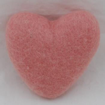 100% Wool Felt Heart - 10cm - Dusty Rose Pink