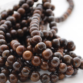 High Quality Grade A Natural Bronzite Semi-precious Gemstone Round Beads - 4mm, 6mm, 8mm, 10mm, 12mm