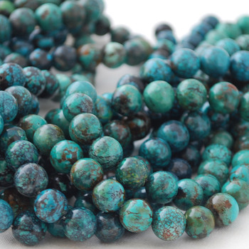 High Quality Grade A Natural Turquoise Semi-precious Gemstone Round Beads 4mm, 6mm, 8mm, 10mm
