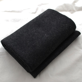 100% Wool Felt Fabric - Approx 1mm Thick - Black Mix