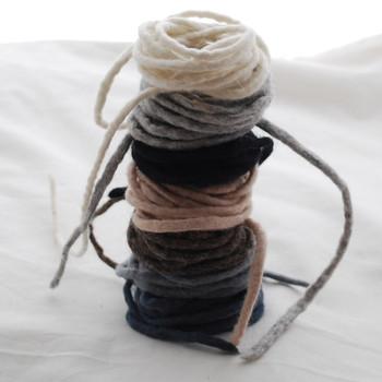 100% Wool Felt Cord - Handmade - 7 Cords - Assorted Neutral Colours